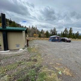 Camp Spot 1B next to restrooms