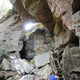 Bow Split Arch - Trail at campsite.