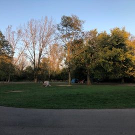 open play area in the center of the circle