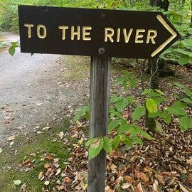 short walk to the creek.