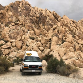 site 77- in the rocks and protected from the wind
