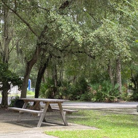 Here's what a standard campsite looks like (complete with Spanish Moss)