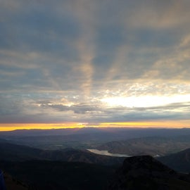 Sunrise at the summit of Mt. Timp just a few miles away