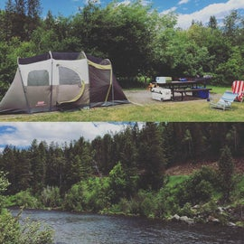 Campsite right on the river