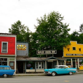 Stewart, BC downtown...it has everything Hyder doesn't as far as supplies go