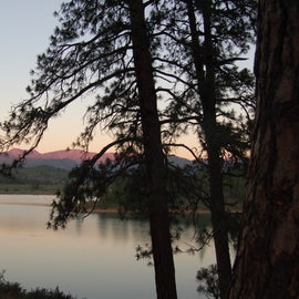 Nightfall over the lake