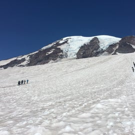 Heading up towards Camp Muir along the Muir snowfield