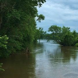 Cedar River at flood stage