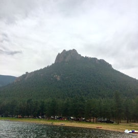 Campsites on lake.