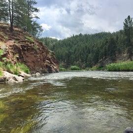 Colorado River tubing.