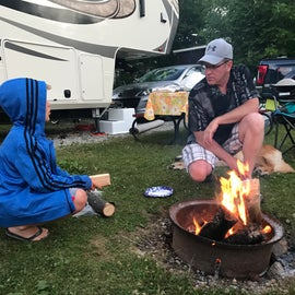 Making memories around the campfire