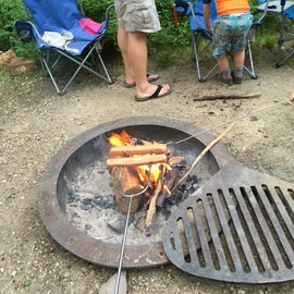 The fire pits have this cool grate that can be swung over the top for cooking. We used it to heat up tortillas.