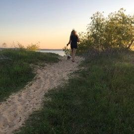 Walking to the Beach.