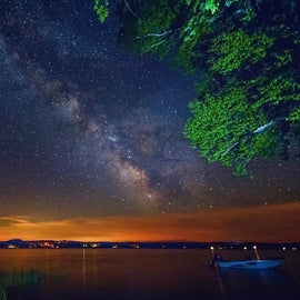 The Milky Way over Piseco Lake from Campsite #13 at Little Sand Point