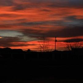 West Texas sunset at Balmorhea