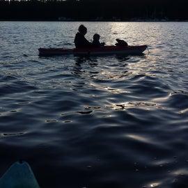 Sunset kayak mission on East Lake