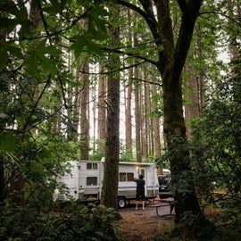 nice campsite with table!