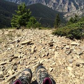 Hiking the limestone