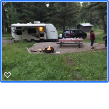 Nice spacious sites with great fire rings, picnic tables and stove stands