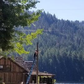 Grandma's cabin from Dante's peak