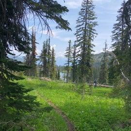 2.5 mike hike up to Lake Dinah