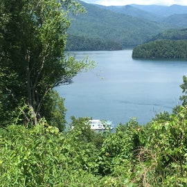 Fontana Lake close to campground