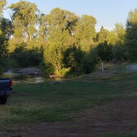 Rio Chama river with a deer visiting.