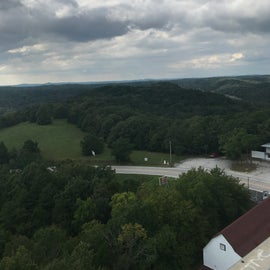 A view of the area near Lake Leatherwood, this is one of the many observation tower views you can take in while in this area.