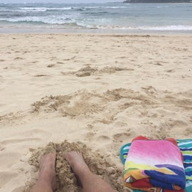 Relaxing on the beach.