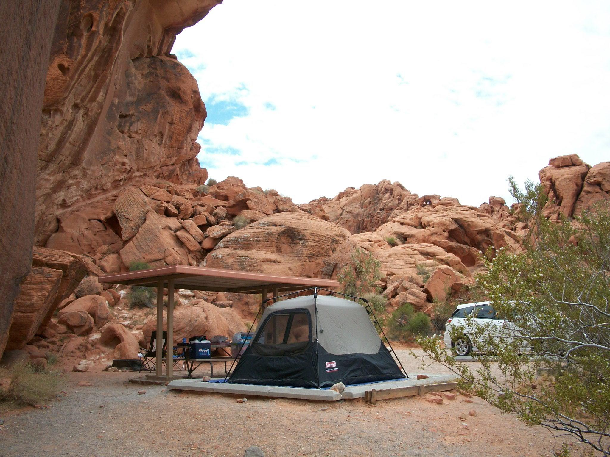 Camping in Virginia City Highlands